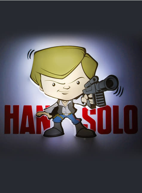 Lámpara decorativa 3D Han Solo cartoon - oficial