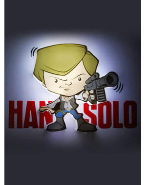 Candeeiro decorativa 3D Han Solo cartoon