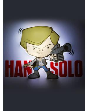 Lampada da muro 3D Han Solo cartoon Star Wars