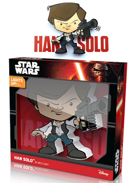 Lámpara decorativa 3D Han Solo cartoon - barato