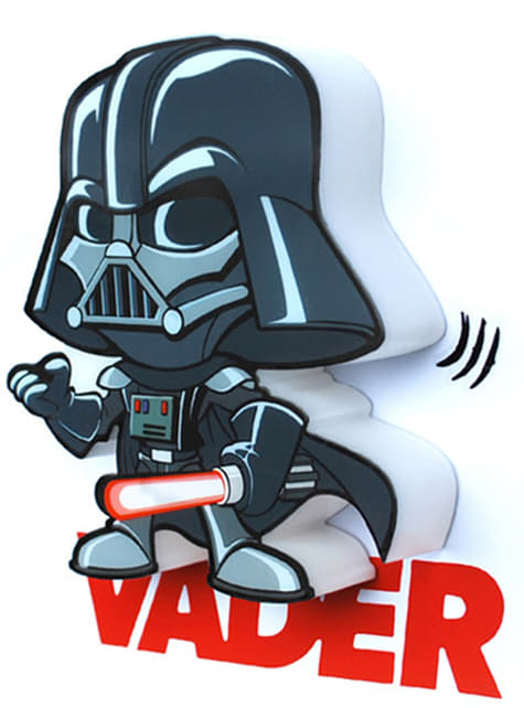 Candeeiro decorativa 3D Darth Vader cartoon