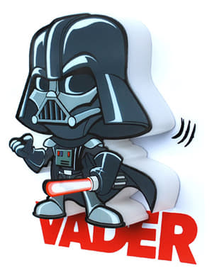 Decoratieve lamp 3D Darth Vader cartoon