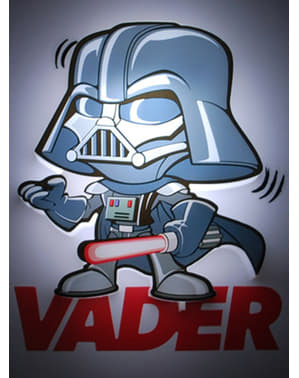 Lampada da muro 3D Darth Fener cartoon Star Wars