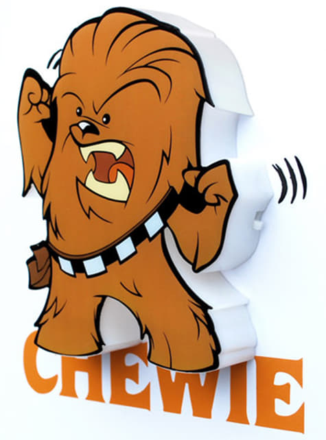 Lámpara decorativa 3D Chewbacca cartoon