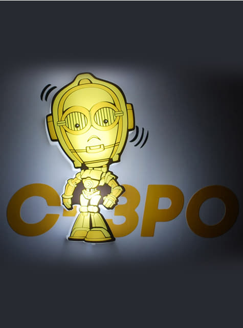Lámpara decorativa 3D C3PO cartoon - oficial