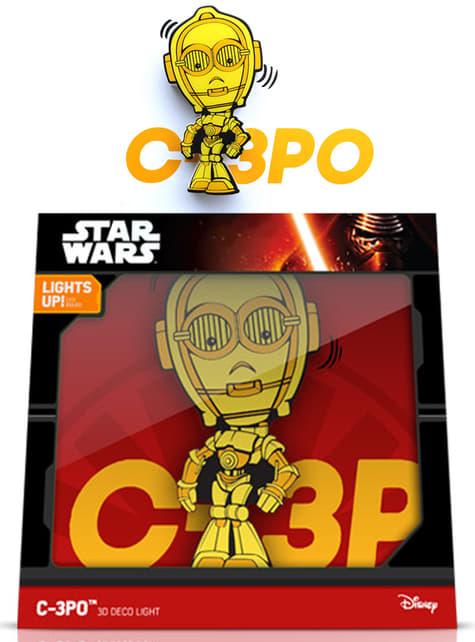 Decoratieve lamp 3D C3PO cartoon