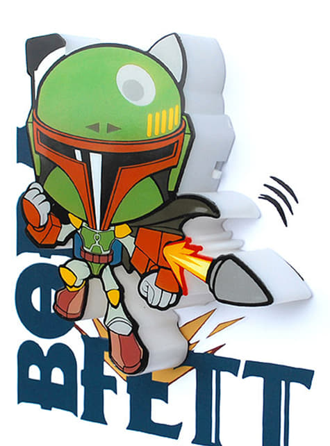 Lámpara decorativa 3D Boba Fett cartoon