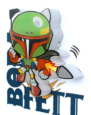 Dekorative Nachttischlampe 3D Boba Fett cartoon