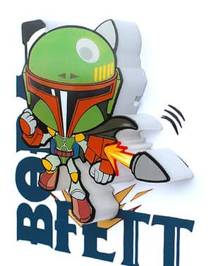Lampada da muro 3D Boba Fett cartoon Star Wars