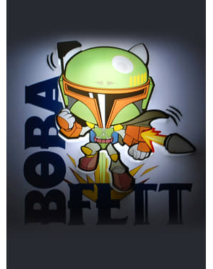 Lampada da muro 3D Boba Fett cartoon Star Wars