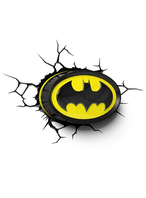 Lámpara decorativa 3D Batman logo