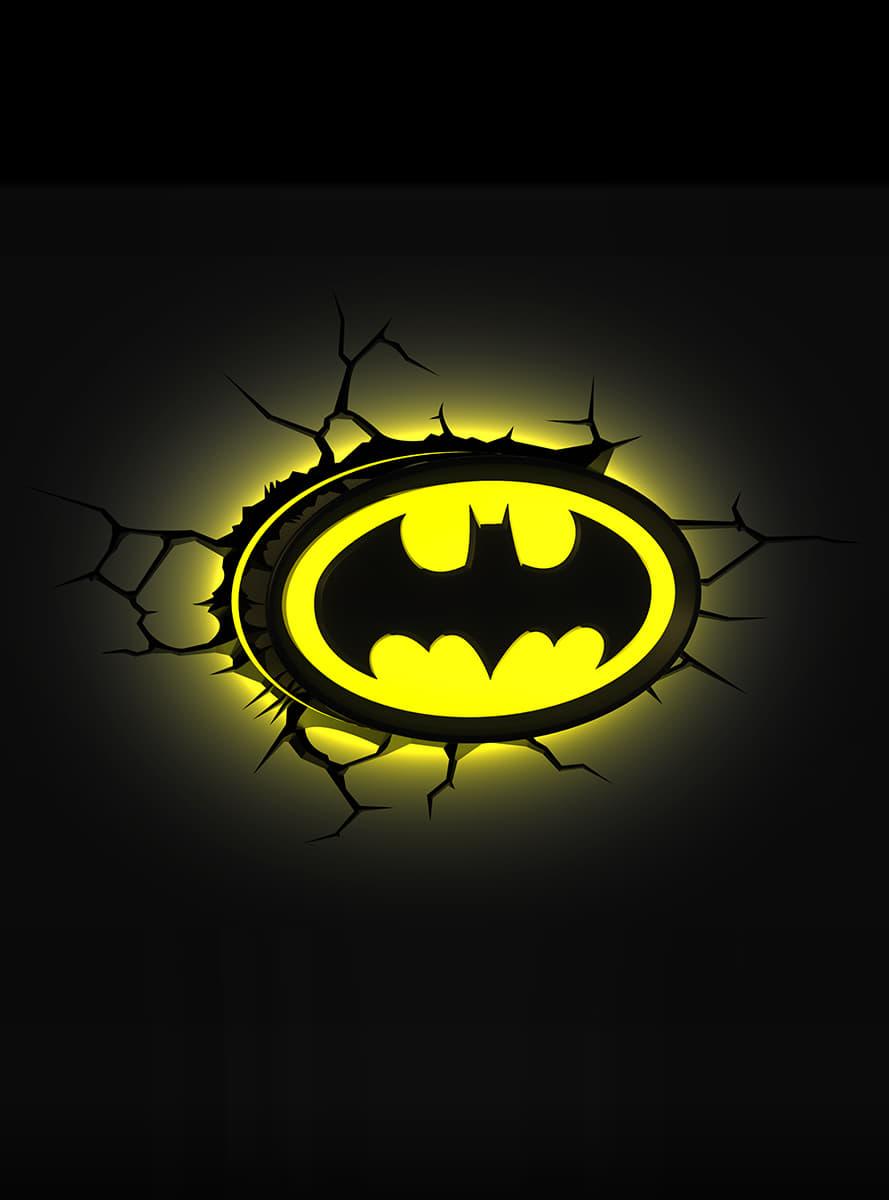 L 225 Mpara Decorativa 3d Batman Logo Para Verdaderos Fans