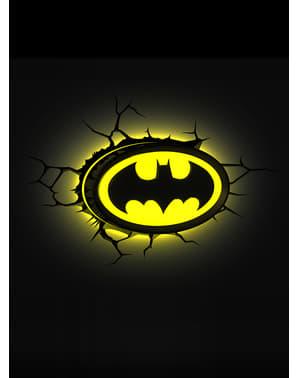 Lampada da muro 3D Batman logo