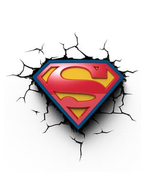 Decoratieve lamp 3D Superman logo