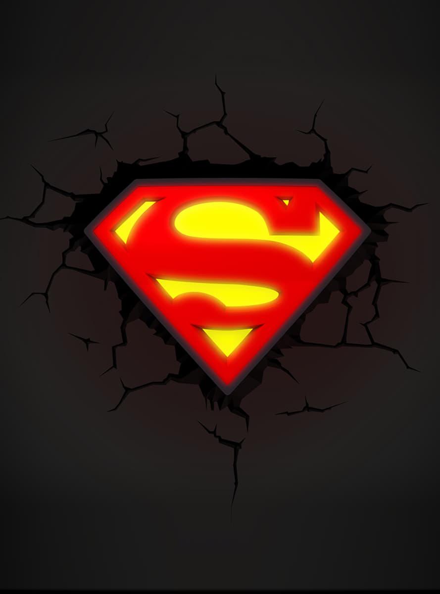 3d Deco Light Superman Logo Official For Fans Funidelia