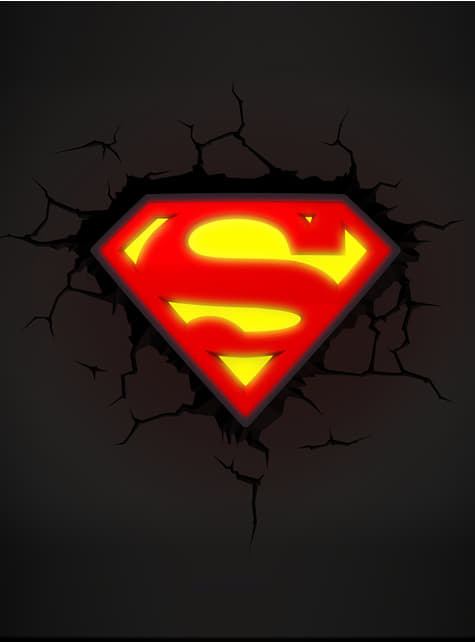 3D Deco Light Superman logo