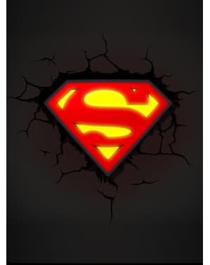 Lampada da muro 3D Superman logo