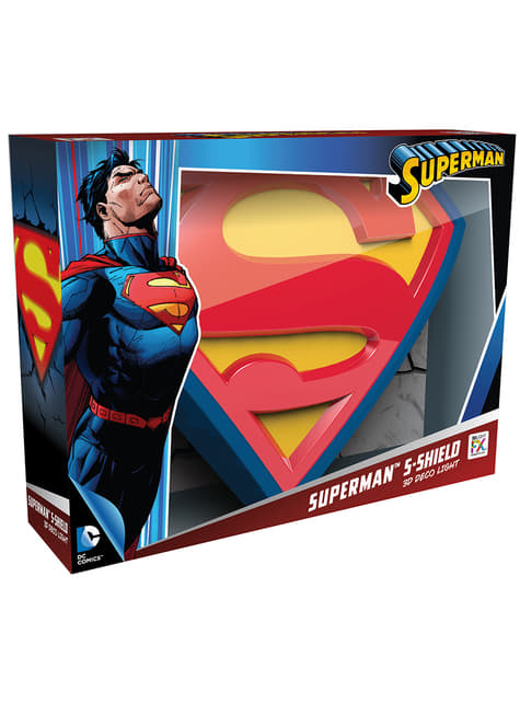 Decoratieve lamp 3D Superman logo