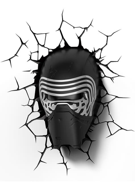 Lámpara decorativa 3D Kylo Ren