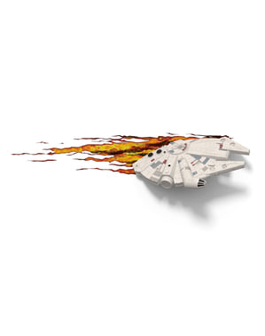 Decoratieve lamp 3D Millennium Falcon