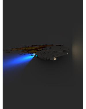 Lampada da muro 3D Millennium Falcon Star Wars