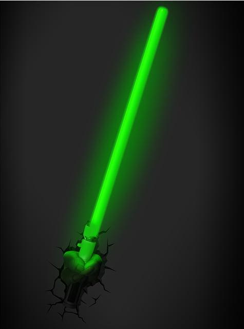 Candeeiro decorativa 3D espada de Yoda