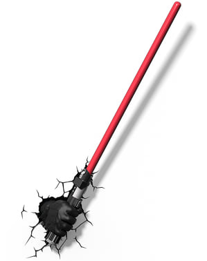 Candeeiro decorativa 3D espada de Darth Vader