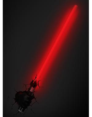 Lampada da muro 3D Spada di Darth Fener Star Wars