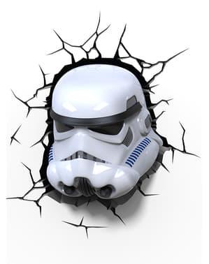 Lampada da muro 3D Stormtrooper Star Wars