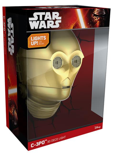 Lámpara decorativa 3D C3PO - barato