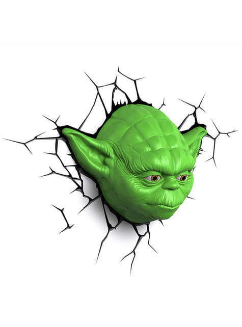 Lámpara decorativa 3D Yoda