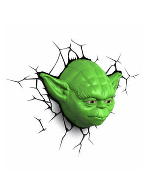Dekorationslampa 3D Yoda Star Wars