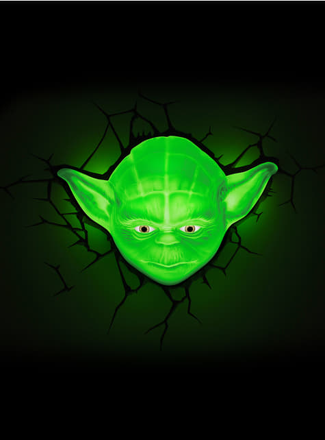 Decoratieve lamp 3D Yoda