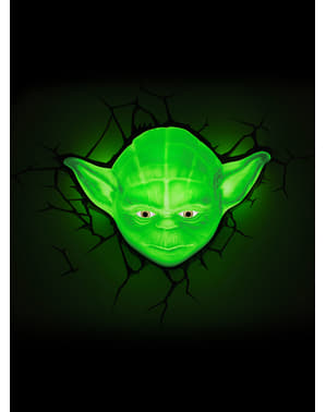 Dekorative Nachttischlampe 3D Yoda