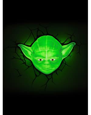 Lampada da muro 3D Yoda Star Wars