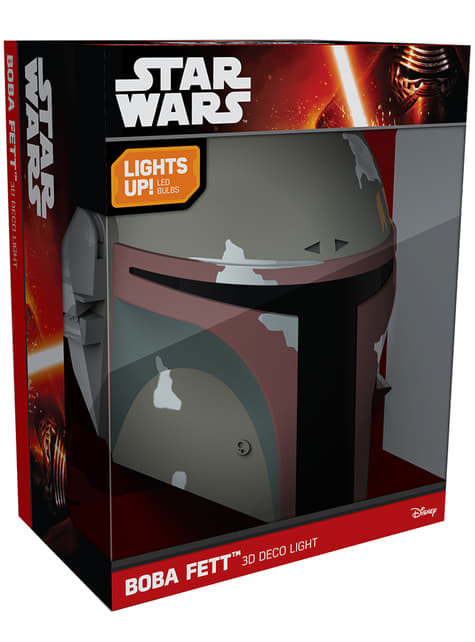 Lámpara decorativa 3D Boba Fett - barato
