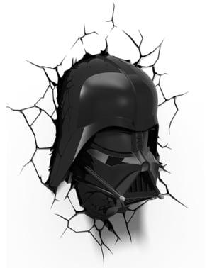 Lampada da muro 3D Darth Fener Star Wars