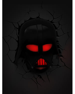 Lampada da muro 3D Darth Fener Star Wars