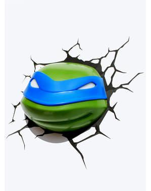 Candeeiro decorativa 3D Leonardo Las Tartarugas Ninja