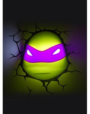 Teini-ikäiset Mutanttininjakilpikonnat Donatello-3D-koristelamppu