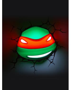 Lampada da muro 3D Raphael Tartarughe Ninja