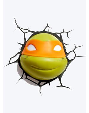 Candeeiro decorativa 3D Michelangelo Las Tartarugas Ninja