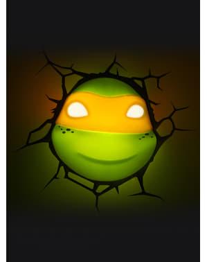 Lampka Led-3D Michelangelo Żółwie Ninja