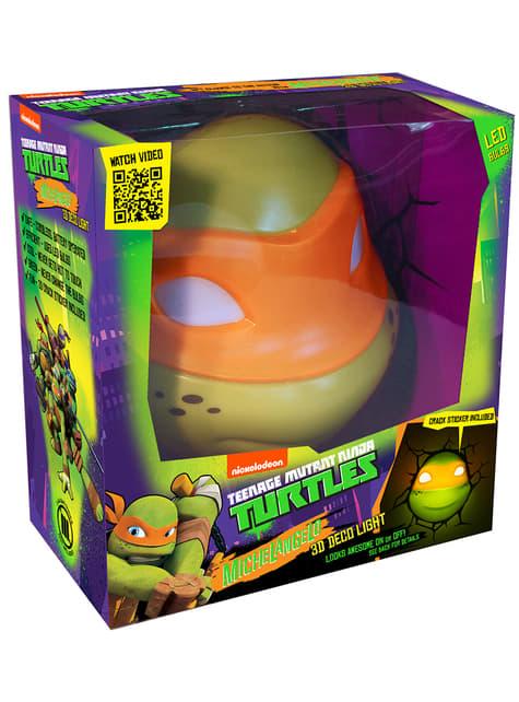 Lámpara decorativa 3D Michelangelo Las Tortugas Ninja - barato