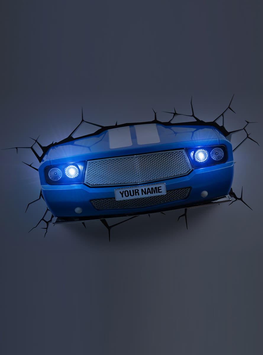 lampe d corative 3d voiture classique bleu funidelia. Black Bedroom Furniture Sets. Home Design Ideas