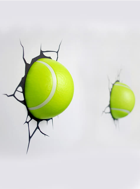Lámpara decorativa 3D pelotas de tenis