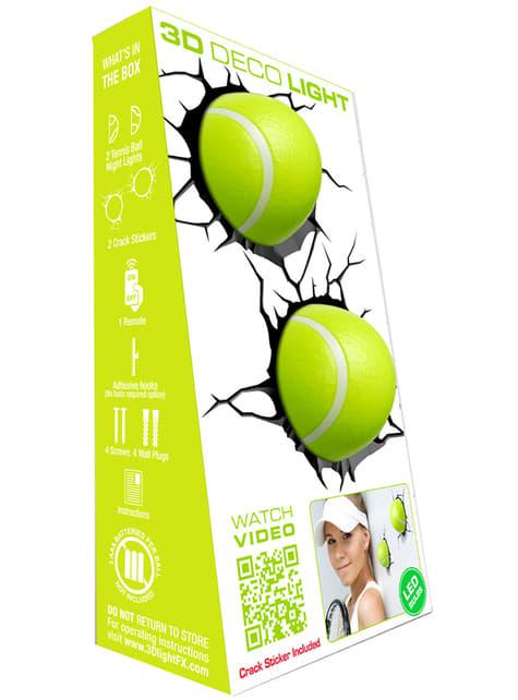 Candeeiro decorativa 3D bolas de tênis
