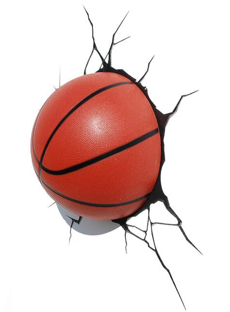 Candeeiro decorativa 3D bola de basquete