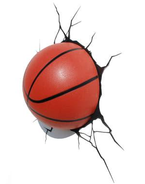 Lampada 3D palla da pallacanestro