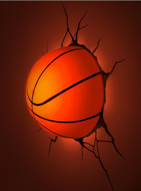 Lámpara decorativa 3D balón de baloncesto